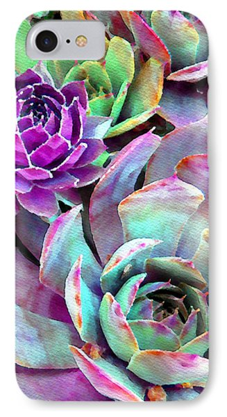 Hens And Chicks Series - Urban Rose Phone Case by Moon Stumpp
