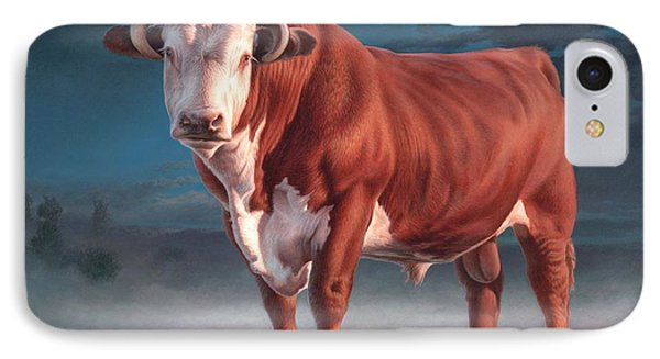 Hereford Bull Phone Case by Hans Droog