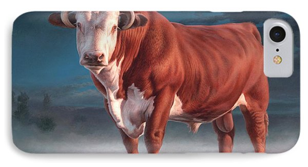 Hereford Bull IPhone Case by Hans Droog