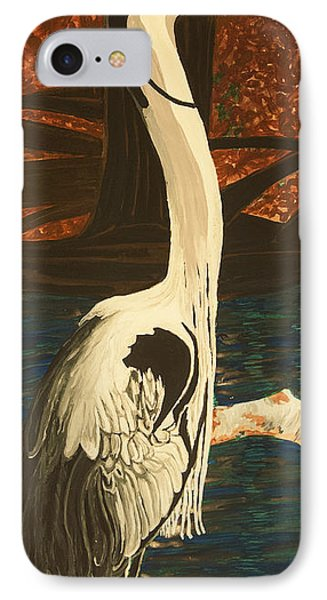 Heron In The Smokies Phone Case by BJ Hilton Hitchcock