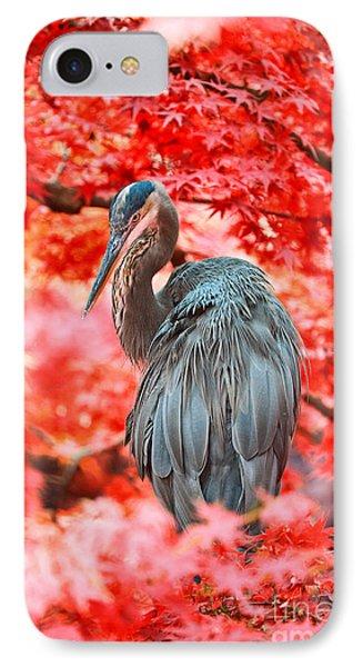 Heron Wonderland Phone Case by Douglas Barnard