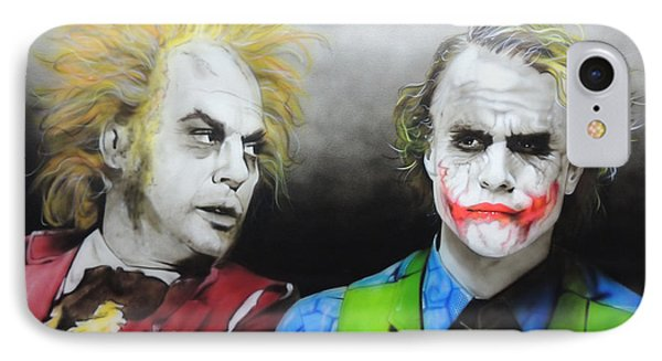 Health Ledger - ' Hey Why So Serious? ' IPhone Case by Christian Chapman Art
