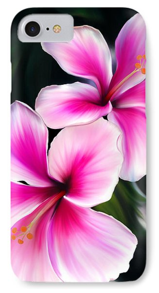 Hibiscuses Phone Case by Laura Bell
