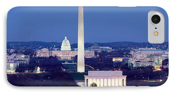 High Angle View Of A City, Washington IPhone Case by Panoramic Images