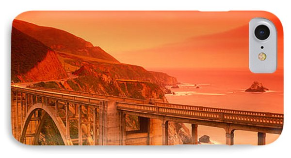 High Angle View Of An Arch Bridge IPhone Case by Panoramic Images