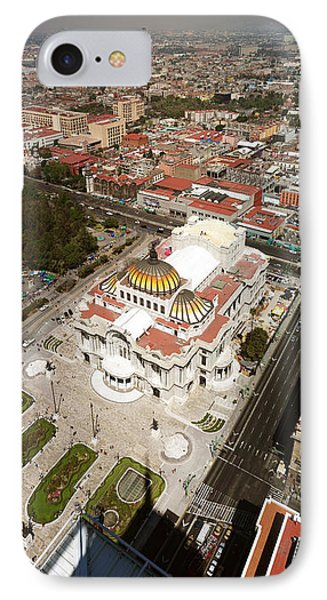 High Angle View Of Palacio De Bellas IPhone Case by Panoramic Images