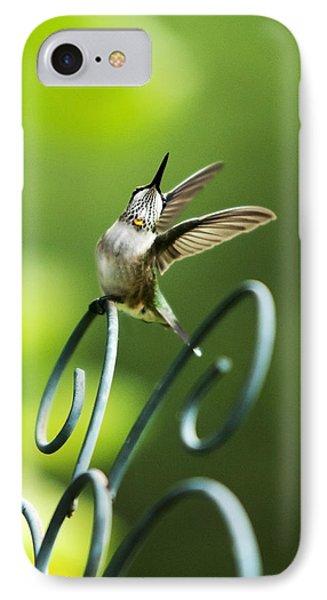 High Spirit Hummingbird Phone Case by Christina Rollo