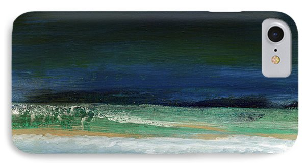 High Tide- Abstract Beachscape Painting IPhone Case by Linda Woods