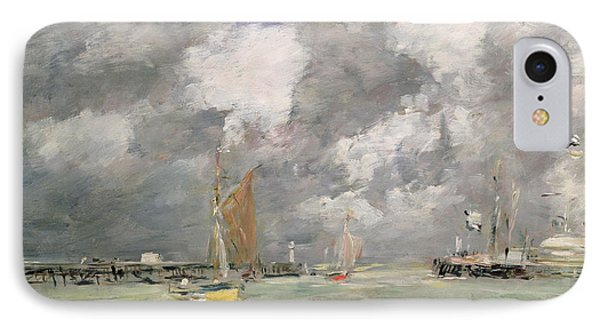 High Tide At Trouville IPhone Case by Eugene Louis Boudin
