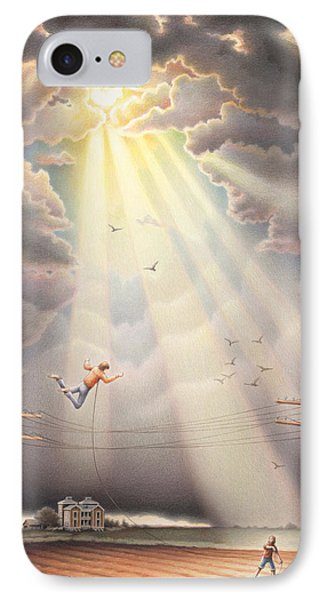 High Wire - Dream Series No. 4 Phone Case by Amy S Turner