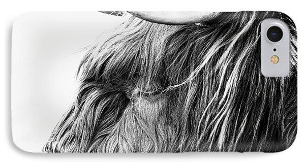 Highland Cow Mono Phone Case by John Farnan
