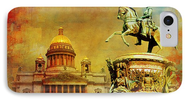 Historic Center Of Saint Petersburg IPhone Case by Catf
