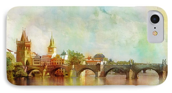 Historic Centre Of Prague  Phone Case by Catf