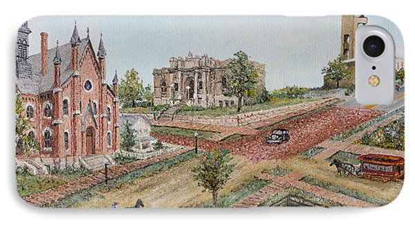 Historic Street - Lawrence Kansas Phone Case by Mary Ellen Anderson