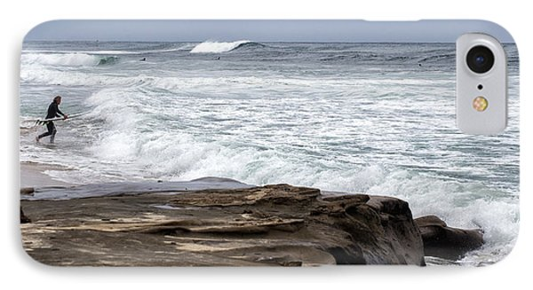 Hittin The Breakers IPhone Case by Peter Tellone