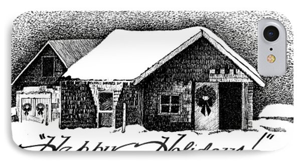 Holiday Barn Phone Case by Joy Bradley