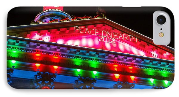 Holiday Lights 2012 Denver City And County Building L1 Phone Case by Feile Case