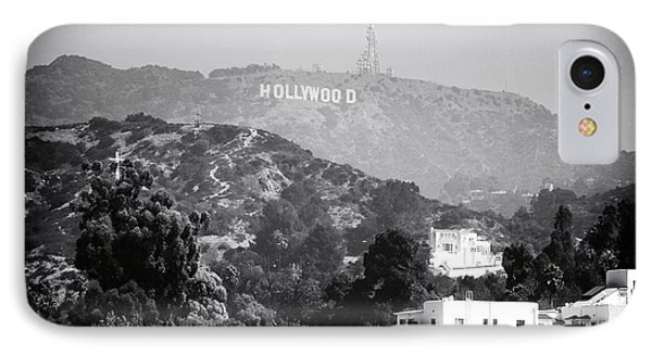 Hollywood Sign Phone Case by John Rizzuto