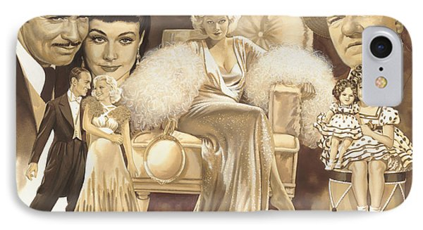 Hollywoods Golden Era IPhone Case by Dick Bobnick