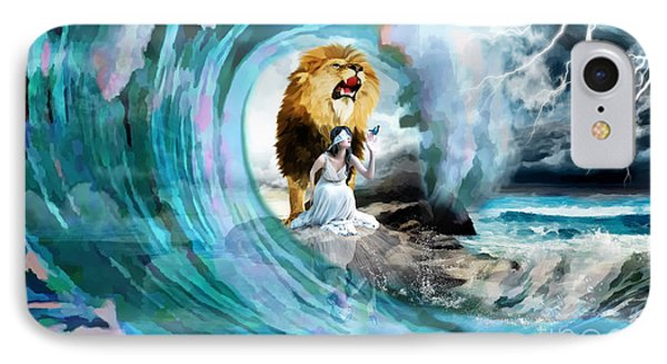 Holy Roar IPhone Case by Dolores Develde