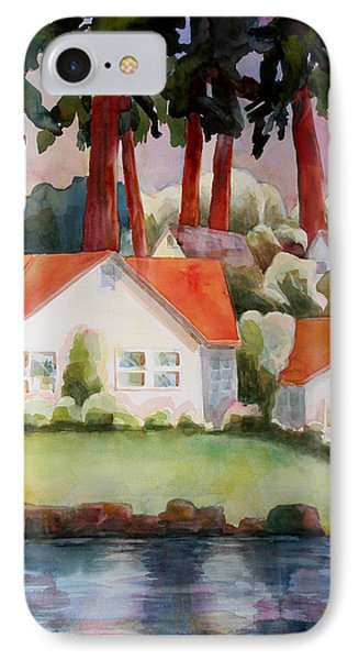 Home By The Lake IPhone Case by Blenda Studio