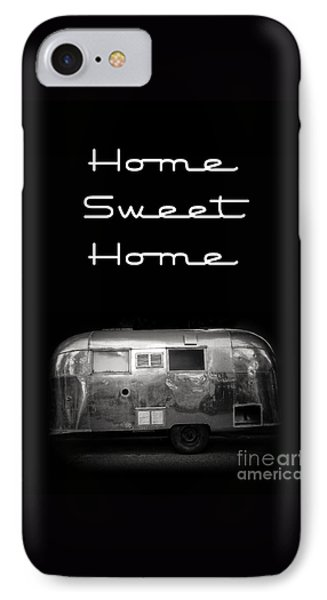 Home Sweet Home Vintage Airstream IPhone Case by Edward Fielding