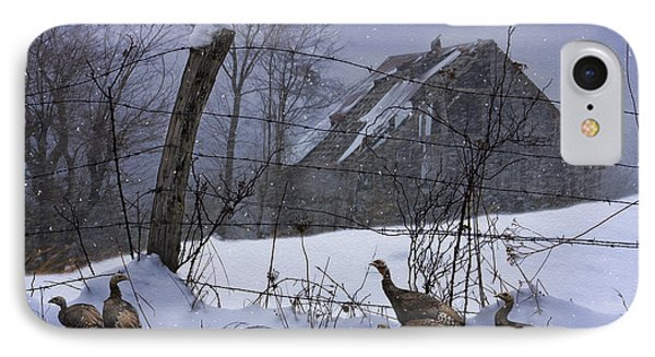 Home Through The Snow Phone Case by Ron Jones