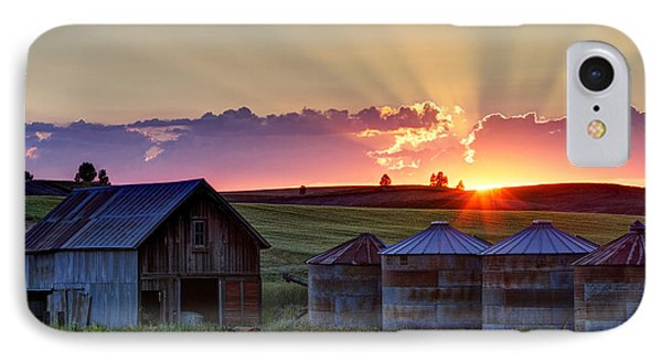 Home Town Sunset IPhone Case by Mark Kiver