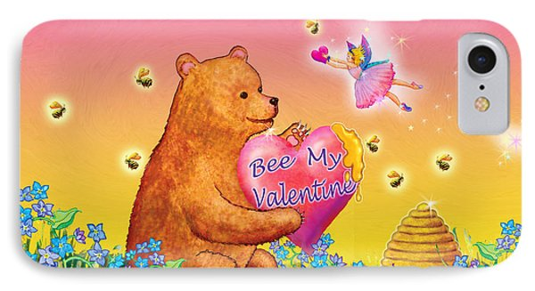 Honey Bear And Fairy Valentine IPhone Case by Teresa Ascone