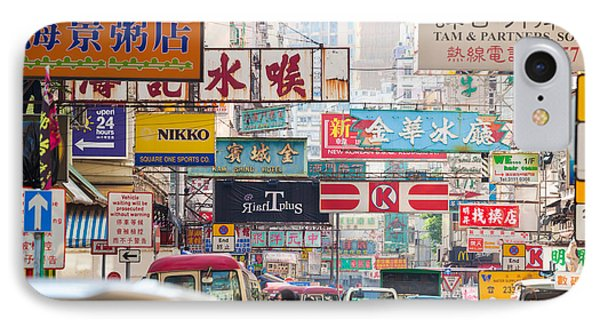 Hong Kong Streets IPhone Case by Matteo Colombo