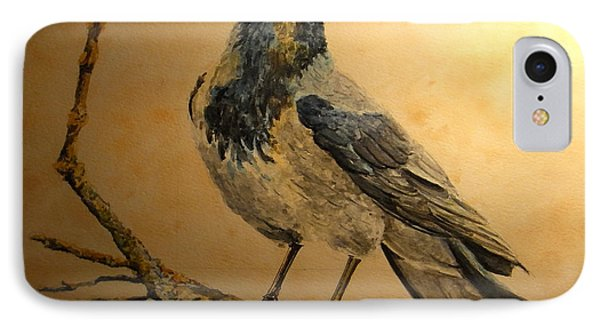 Hooded Crow IPhone Case by Juan  Bosco