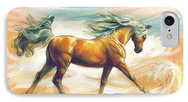 Horse Akalteke IPhone Case by Zorina Baldescu