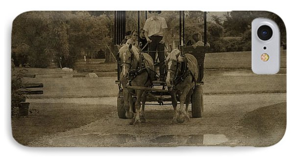 Horse Carriage Tour IPhone Case by Dan Sproul