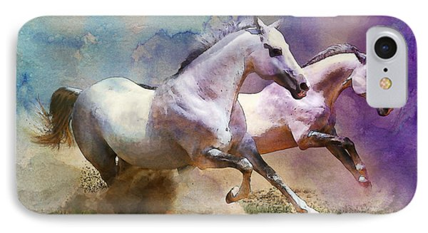 Horse Paintings 004 Phone Case by Catf