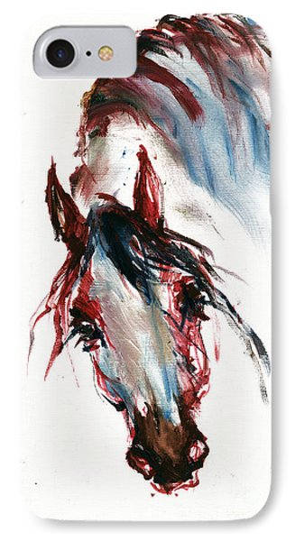 Horse Portrait Phone Case by Angel  Tarantella