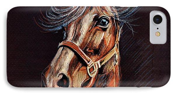 Horse Portrait  Phone Case by Daliana Pacuraru