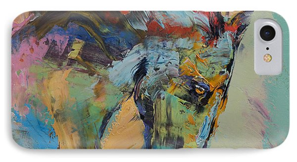 Horse Study IPhone Case by Michael Creese