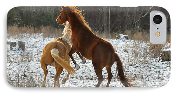 Horses At Play - 10dec5690b Phone Case by Paul Lyndon Phillips