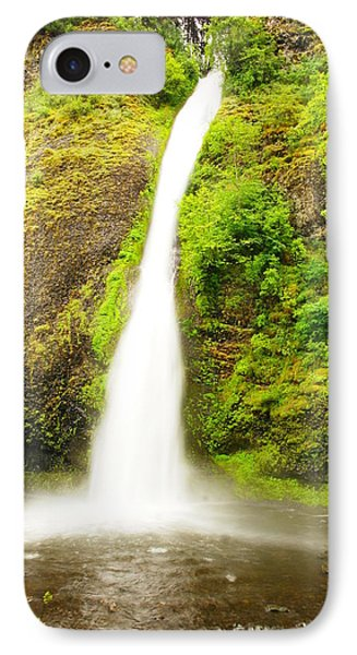 Horsetail Falls In The Spring Phone Case by Jeff Swan