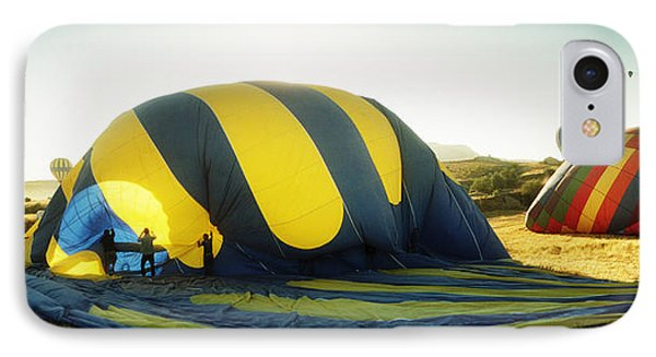Hot Air Balloon Being Deflated IPhone Case by Panoramic Images