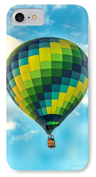 Hot Air Balloon Checkerboard IPhone Case by Robert Bales