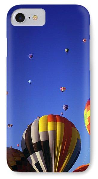 Hot Air Balloons Aloft IPhone Case by Greg Probst