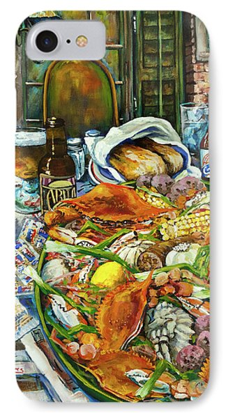 Hot Boiled Crabs IPhone Case by Dianne Parks