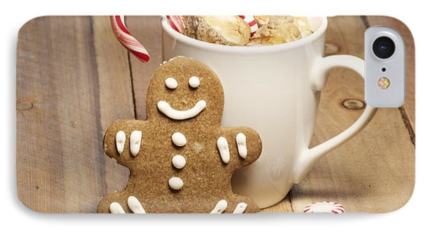 Hot Chocolate Toasted Marshmallows And A Gingerbread Cookie IPhone Case by Juli Scalzi