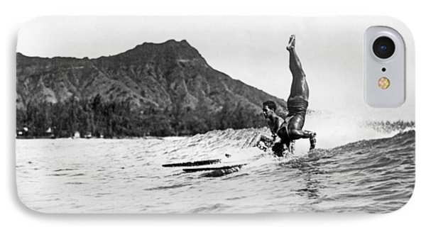 Hot Dog Surfers At Waikiki IPhone Case by Underwood Archives