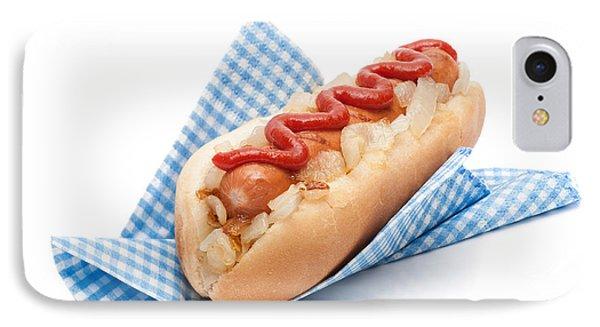 Hotdog In Napkin Phone Case by Amanda Elwell