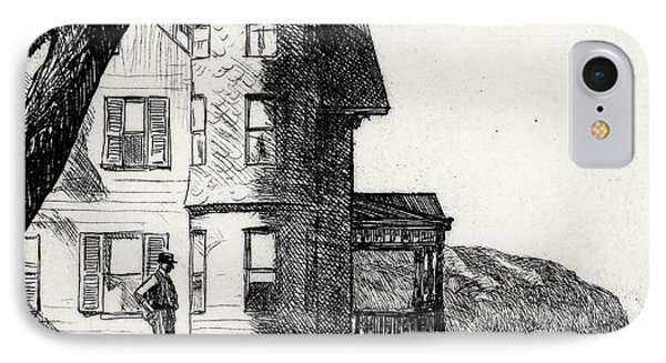 House By A River IPhone Case by Edward Hopper