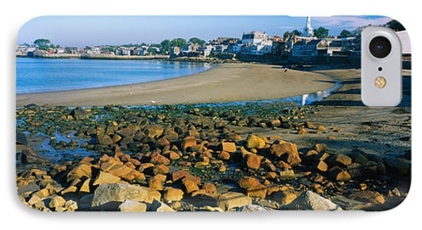 Houses Along The Beach, Rockport IPhone Case by Panoramic Images