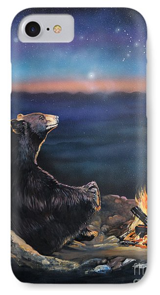 How Grandfather Bear Created The Stars IPhone Case by J W Baker