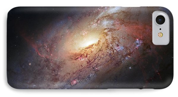 Hubble View Of M 106 IPhone Case by Adam Romanowicz